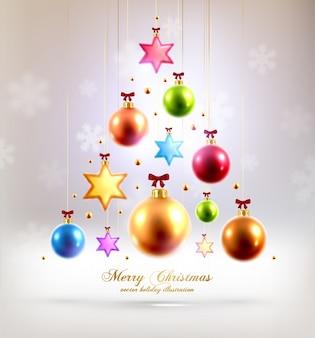 Abstrakcyjny element Navidad złota Weihnachten