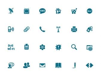 Adobe wektora logo niebieski stylowy