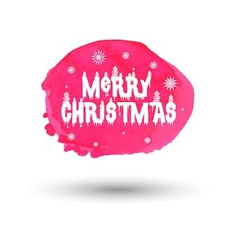 Akwarela Boże Narodzenie Splatter Heads