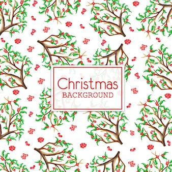 Akwarela Boże Narodzenie Tła