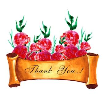 Akwarela Floral kartkę z życzeniami