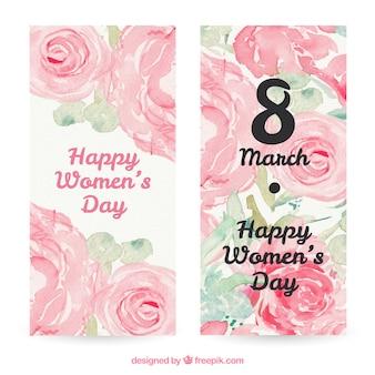 Akwarela Floral karty Dzień Kobiet
