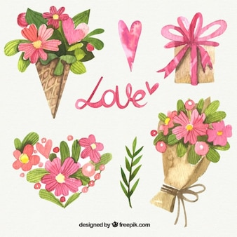 akwarela kwiaty i bukiety