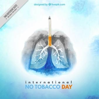 Akwarela niezdrowe płuca tle