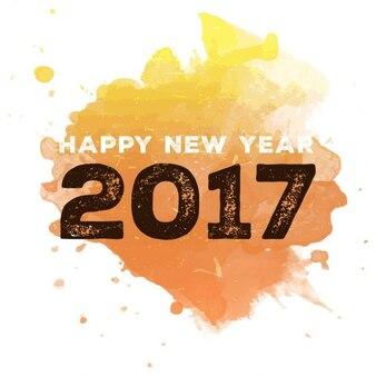 Akwarela nowy rok tła