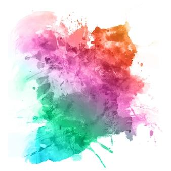 Akwarela splatter w kolorach tęczy