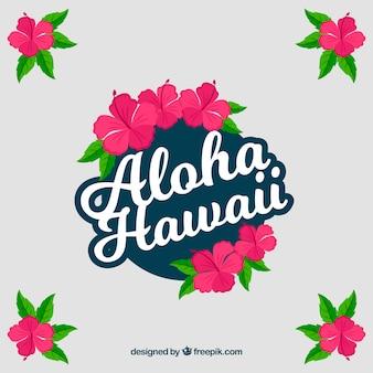 Aloha hawaii w tle