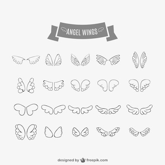 Angel Wings bazgroły ustawić