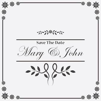 Archiwalne Zaproszenie Ślubu