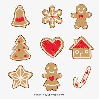 Asortyment pyszne ciasteczka świąteczne pierniki