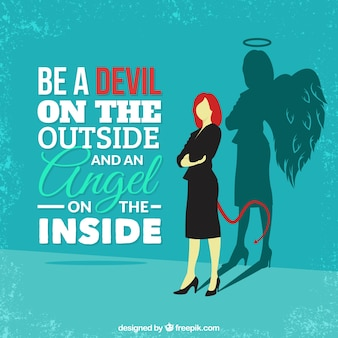 Bądź diabeł na zewnątrz