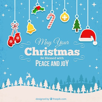 Błogosławiony Boże Narodzenie w tle