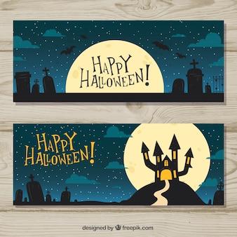 Banery dekoracji nocy Halloween