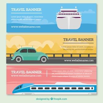 Banery podróżować z transportem