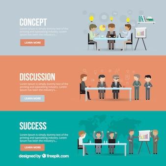 Banery spotkań biznesowych