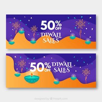 Banery sprzedaży Diwali