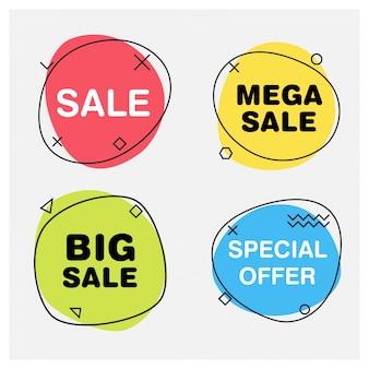 Banery sprzedaży okrągłej