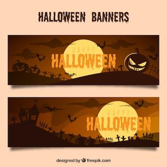 Banery z halloween krajobrazy