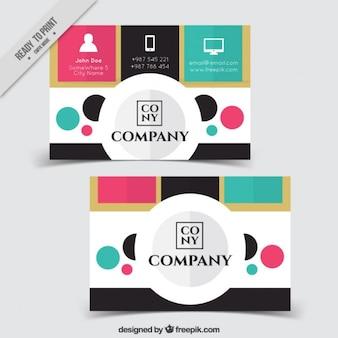 Barwione korporacyjnych kart z kręgów