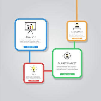 Barwne infografika szablon