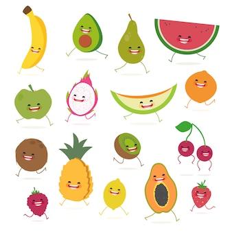 Barwne owoce kolekcja