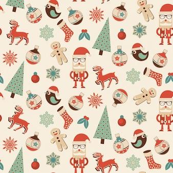 Bez szwu Boże Narodzenie wzór - idealny projekt na papier do pakowania prezentów lub dekoracyjne tapety