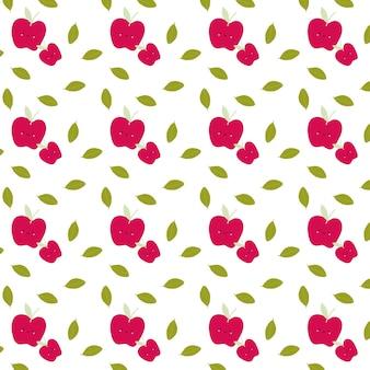 Bez szwu słodkie jabłko wzór owoców