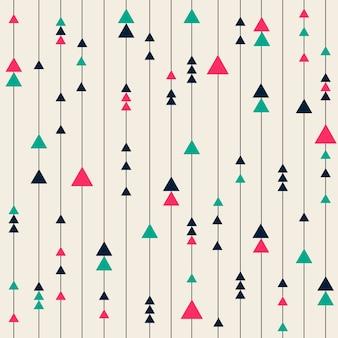 Bezszwowych kolorowe tło geometryczny wzór z linii i trójkąta