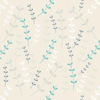 Bezszwowych liści deseń tła
