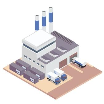 Biała fabryka izometryczny