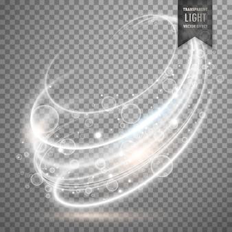Biały przejrzysty efekt świetlny tła wektora