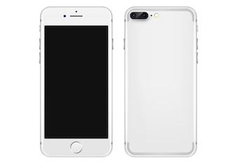 Biały telefon komórkowy szablonu