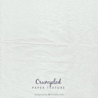 Biały zmięty arkusz tekstury