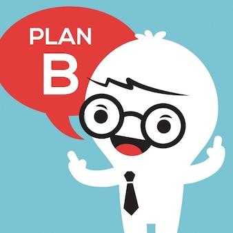 Biznes człowiek z Planu B w bąblu