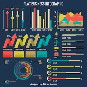 Biznes elementy infographic