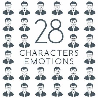 Biznesmen twarz emocji kolekcji