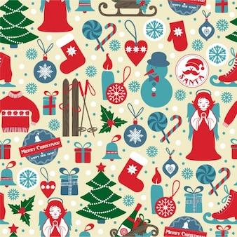 Boże Narodzenie bez szwu z ikonami