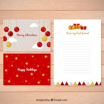 Boże Narodzenie list i kart z miłą dekoracji