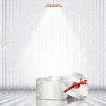 Boże Narodzenie pudełko świetle reflektora