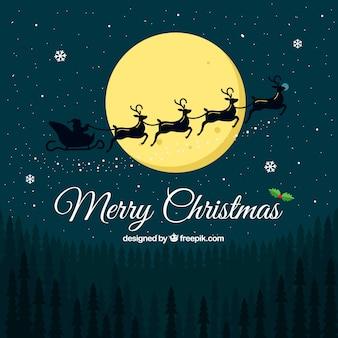 Boże Narodzenie w tle krajobraz z Santa Claus