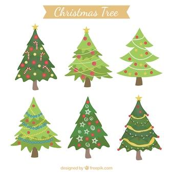 Boże Narodzenie zdobione drzewa