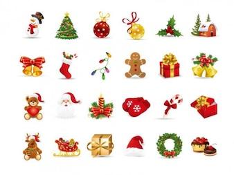 Boże Narodzenie zestaw elementów wektorowych