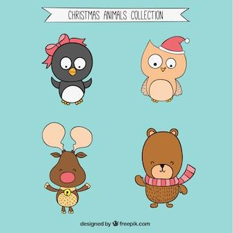 Boże Narodzenie Zwierzęta Kolekcja