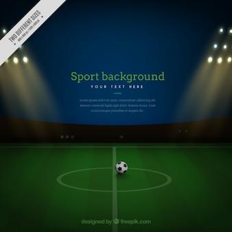 Boisko do piłki nożnej w tle