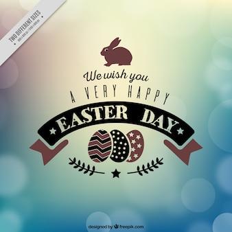 Bokeh nieostre tło dzień Wielkanocy
