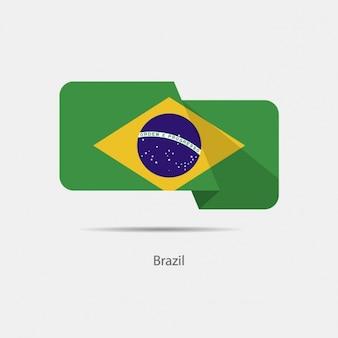 Brazil flag projektowania