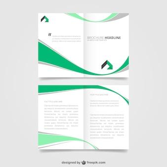 Broszura z zielone fale projektu