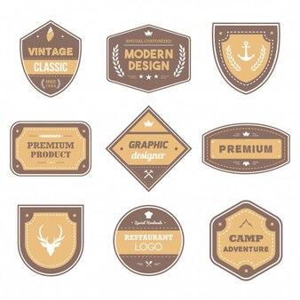 Brown zestaw odznaki Vintage