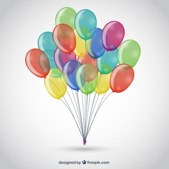 Bukiet kolorowych balonów
