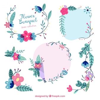 Bukiet kwiatów ramki kolekcji